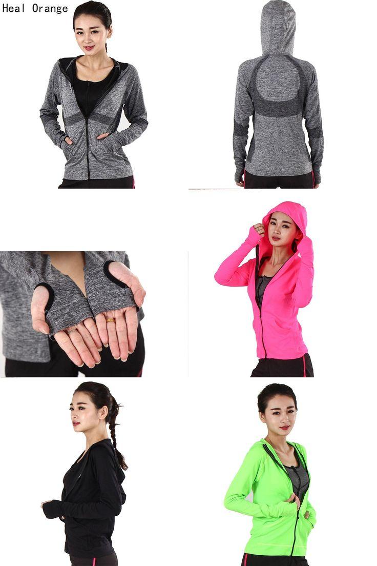 [Visit to Buy] Heal Orange Running Jacket For Women Yoga Zipper Long Sleeve Women Sport Jacket Fitness Ladies Hoodies Sports Women's Clothing #Advertisement