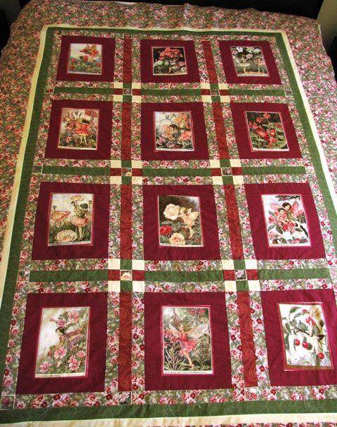 Michael Miller Flower Fairies quilt - own design