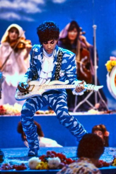 Classic Prince | 1985 Around The World In A Day - Prince Raspberry Baret on set photograph by Jeff Katz. Shared recently via his Facebook.