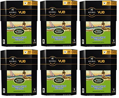 Green Mountain Coffee Nantucket Blend, Vue Cups for Keurig Vue Brewers 96 Count