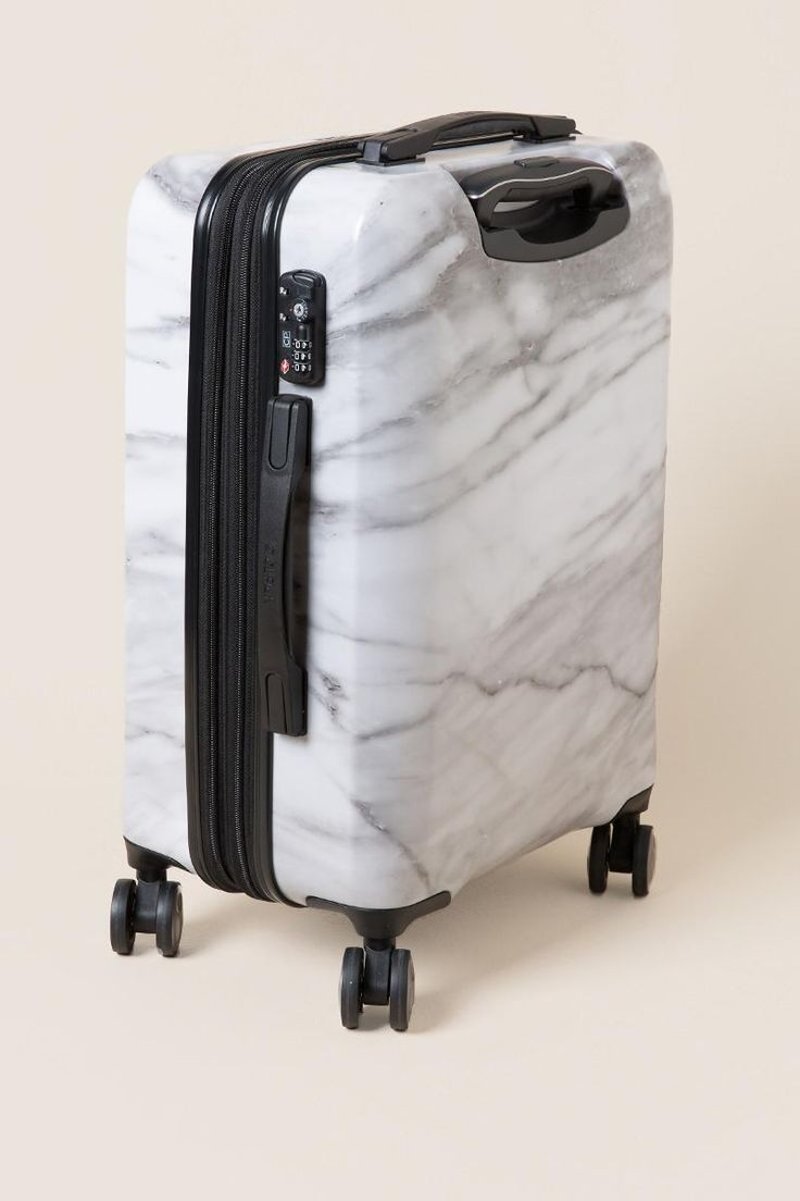 CALPAK Astyll Marble Carry-On Luggage- White side