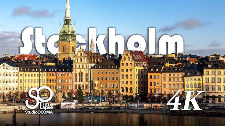 4K Timelapse of Stockholm Day & Night Sweden Scandinavia