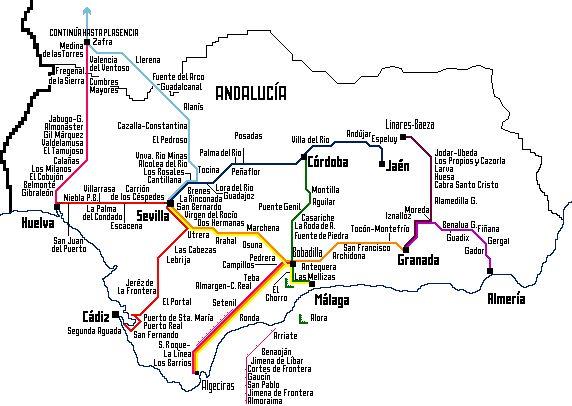 Découvrez la carte touristique d'Andalousie et tous ses points d'intérêts et hôtels pour préparer votre voyage, Alhambra, Gen