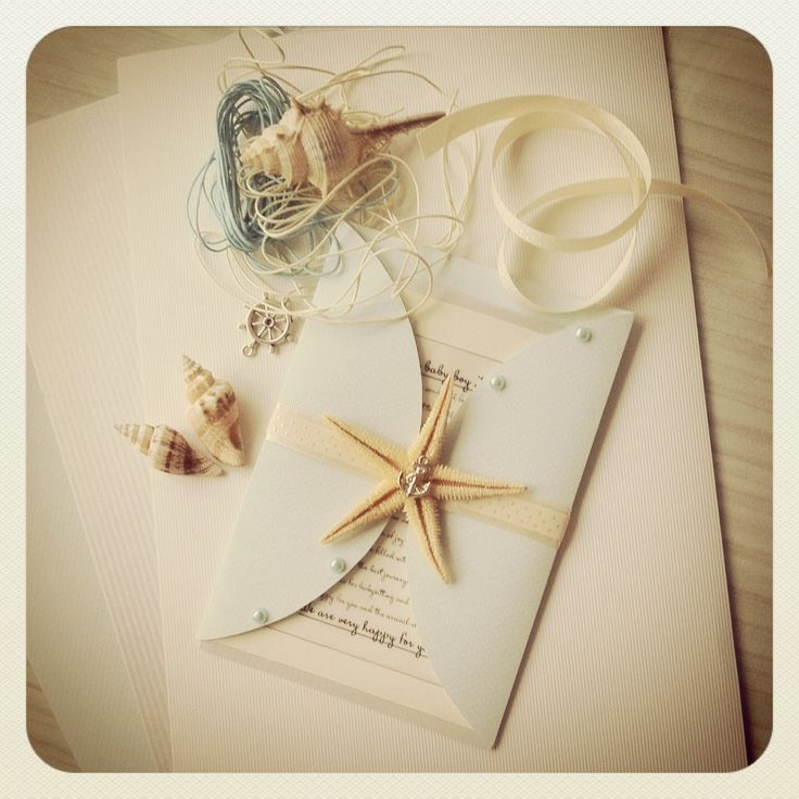 "Wedding invitation ""sea star"""