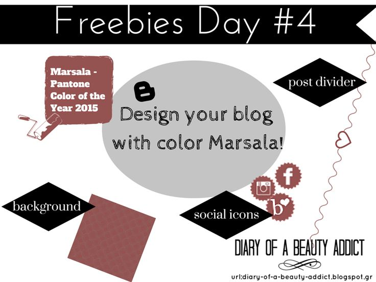 Design your blog with color Marsala!  #freebiesday