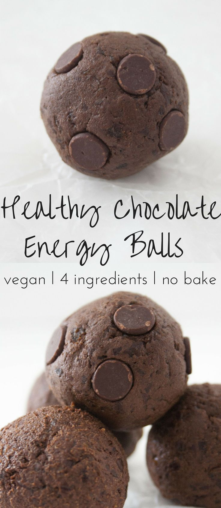 Healthy chocolate energy balls that are vegan, no bake, and an easy recipe with just 4 ingredients. The best chocolate energy balls! Kick Start The New Year with Dollop of Yum. Low calorie and high protein