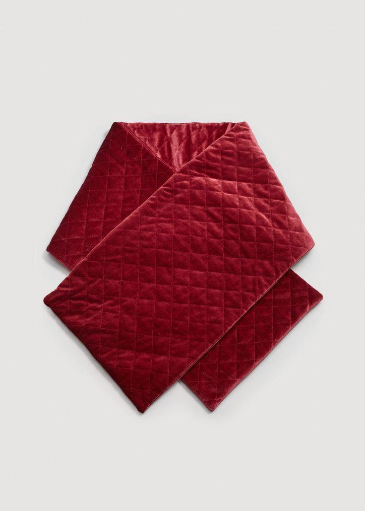 Velvet quilted scarf   MANGO