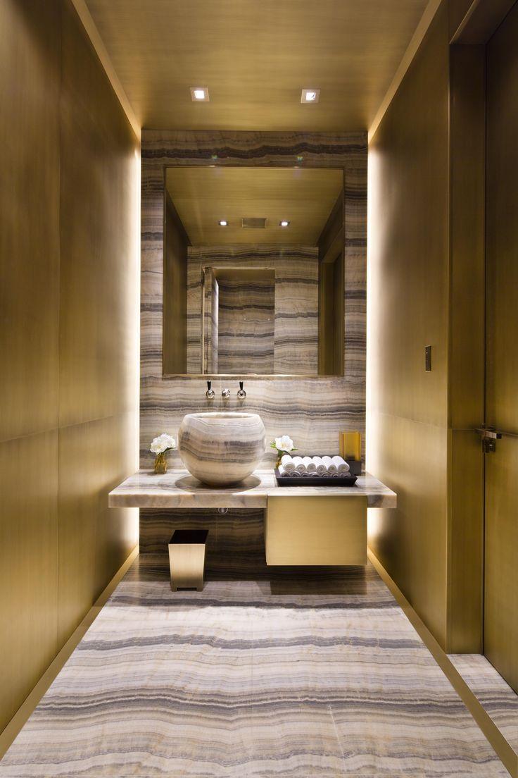 Sumptious lighting design to powder room lightplan