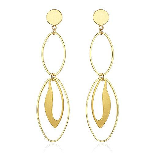 5ce8336ee Nicear 14K Gold Dangle Earrings, Hoop Earrings, Geometric Earrings for Women  1. Nicear--Founded on the idea that jewelry could be more than an accessory  ...