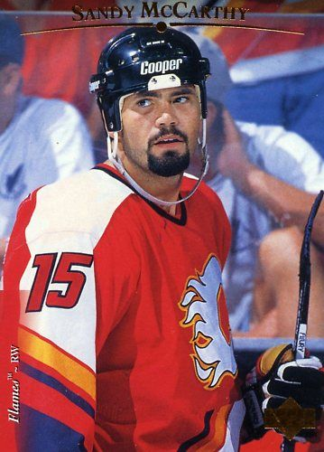 rare 95/96 upper deck sandy mccarthy card…one of the toughest flames ever