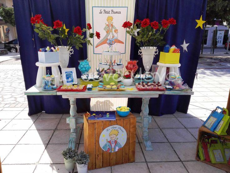 Μια βάπτιση με θέμα τον Μικρό Πρίγκηπα! Le petite prince baptism! #baptism #christening #partyideas #decoration #boy #blue #stars #lepetiteprince #