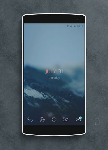 ice - Android home screen