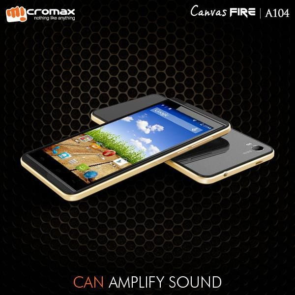 Micromax Canvas Fire A104 with Android 4.4 launched for Rs. 6999 to Compete Moto E