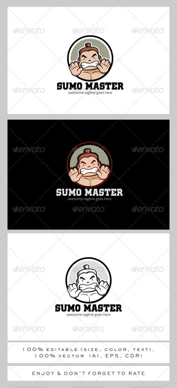 Sumo Master Mascot Logo Design Template Vector #logotype Download it here: http://graphicriver.net/item/sumo-master-logo-mascot/7903709?s_rank=617?ref=nexion