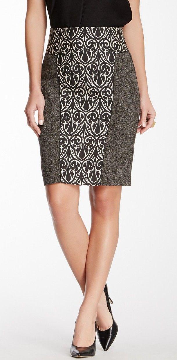 Mixed Media Pencil Skirt ok I want this