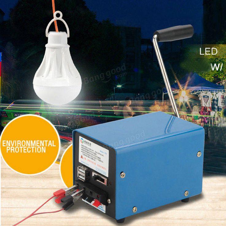 Outdoor 20W Multifunction Portable Manual Crank Generator Emergency Survival Power Supply