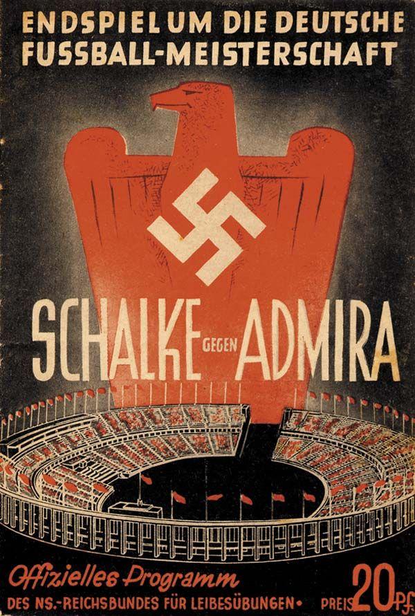 18.6.1939, Olympic Stadium, Berlin.Schalke 04 - Admira Vienna, German championship final.Official match programme.