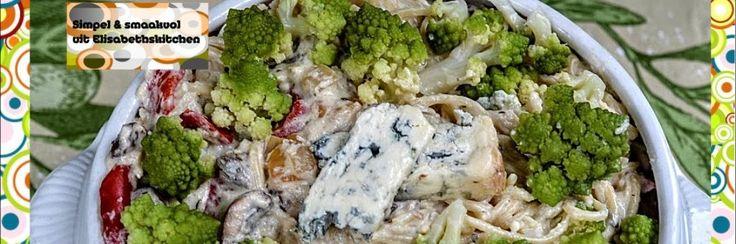 Pasta met bloemkool-blauwe kaas-saus