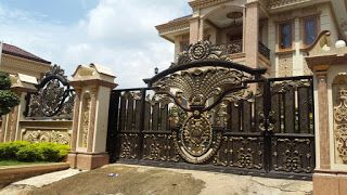 gambar pintu pagar gerbang railing balkon tangga besi