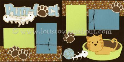 Purr-fect Scrapbook Page Kit [purrfect13] - $7.99 :: Lotts To Scrap About - Your Online Source for Scrapbook Page Kits!