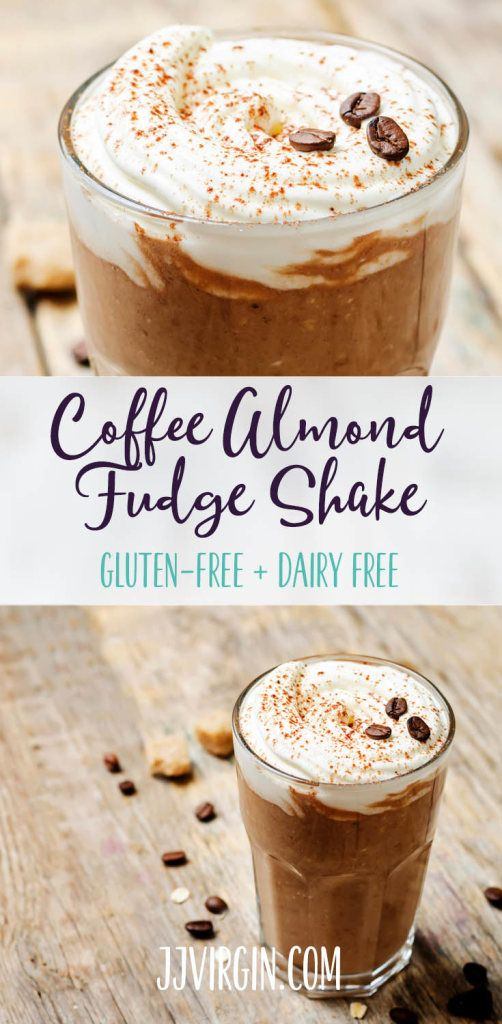 You've gotta try this shake! This incredible smoothie is full of fudgy chocolate, while the addition of coffee and almond gives it a toasty, nutty flavor. Get this gluten free, dairy free, healthy protein shake recipe now..
