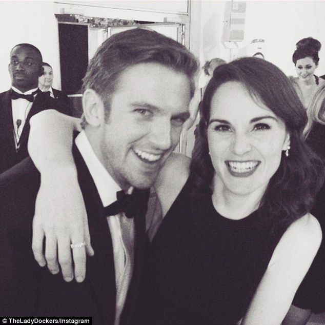 Together again! Almost three years after Michelle Dockery had to say goodbye to her co-star in an emotional storyline, the actress and Dan Stevens were reunited at a special Downton Abbey BAFTA event, on Tuesday