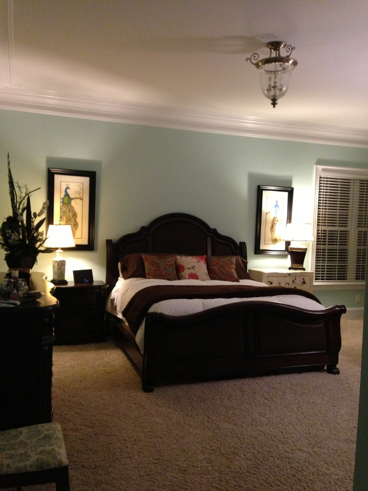 Master Bedroom Icy Green Benjamin Moore Paint New