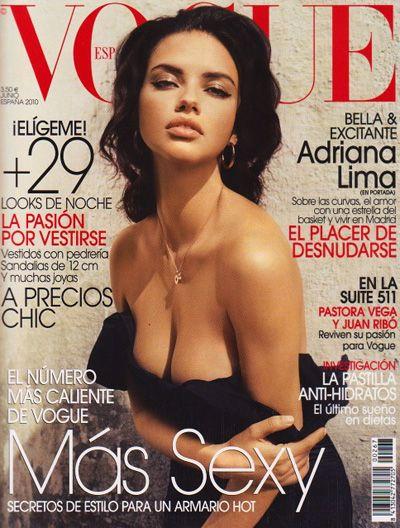 Adriana Lima for Vogue Spain, June 2010.