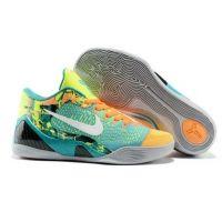 Nike Kobe IX 9 Elite Low blue green orange mens basketball shoes