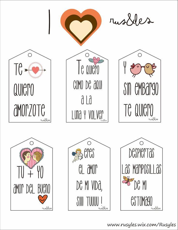 Rus&Les: Etiquetas Amorosas by Rus&Les