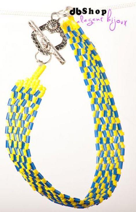 beaded handmade bracelet, made with PEYOTE technique, with Miyuki beads