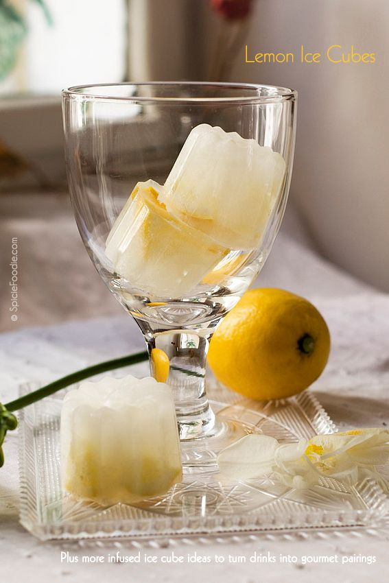 Lemon Ice Cubes + More Flavoured Ice Cube Ideas | #icecubes #lemon #drinks