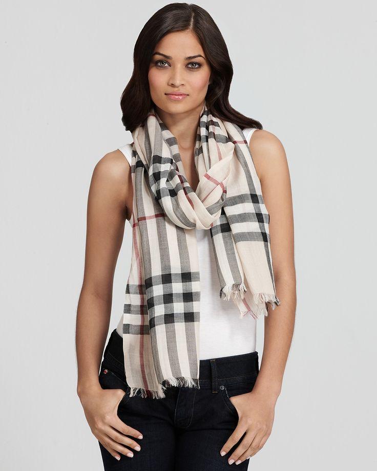burberry check wool silk gauze scarf bloomingdale