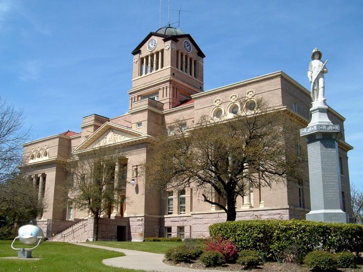 Texas Court Houses | ... : Texas Courthouses - 05186 Navarro County Courthouse in Corsicana