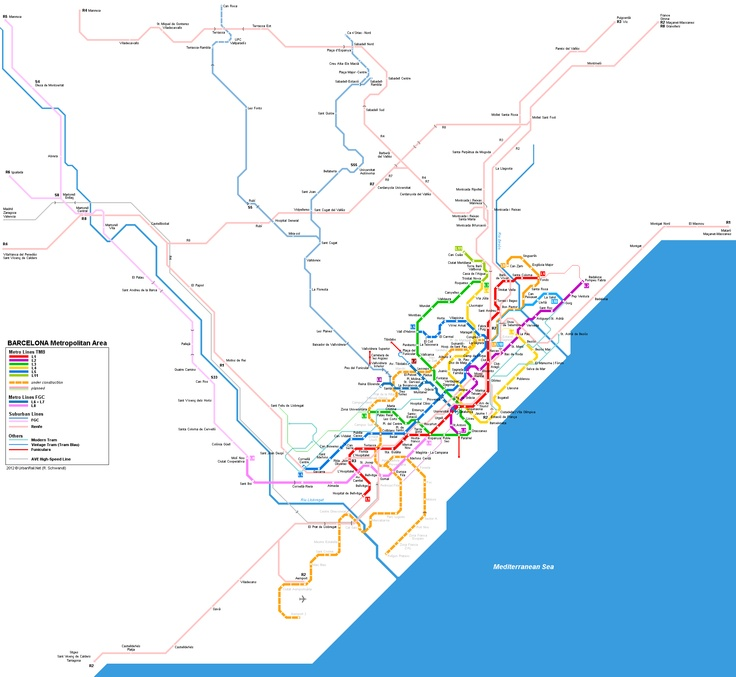 Best Europe Urban Metro Map Images On Pinterest Subway Map - Barcelona map europe