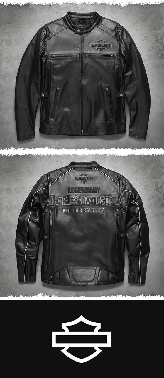 This men's leather motorcycle jacket is fully loaded. | Harley-Davidson Men's Votary Leather Jacket