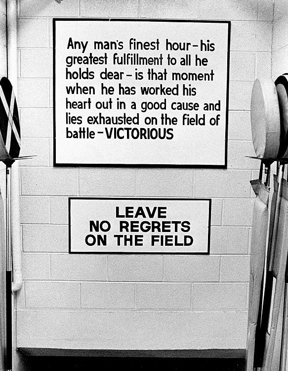 1965   Vince Lombardi Hung This Sign In The Packer Locker Room To Motivate  His Players. Part 91