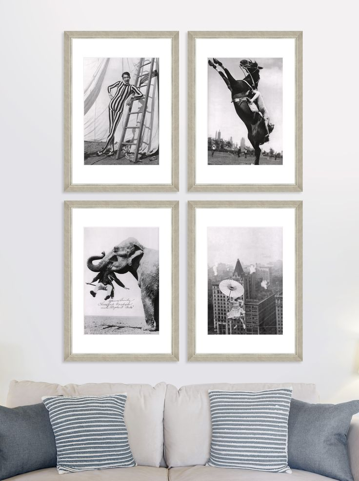 Circus - Set of 4 Premium Framed Art by MINDTHEGAP