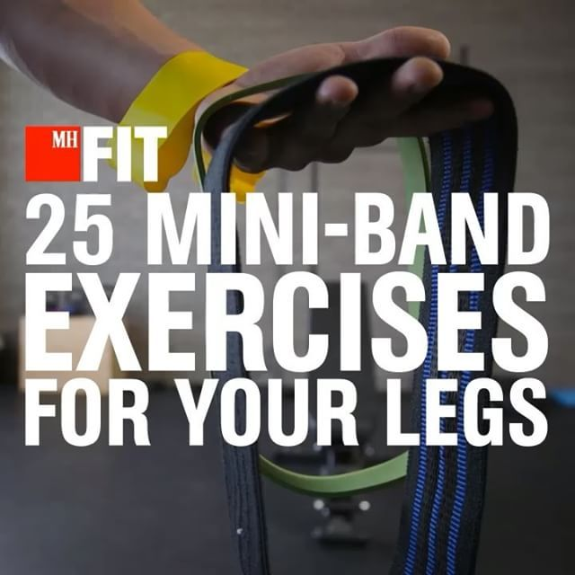 The 25 Best Mini-Band Exercises for your Legs! Our fitness director BJ Gaddour…