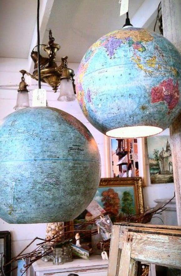 Luminárias feita com globos.  Fotografia: Deco Deliziosa.