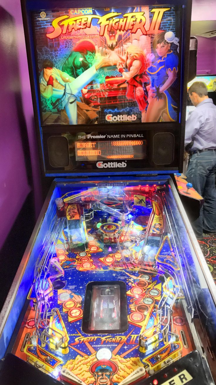 Street fighter II arcade machine