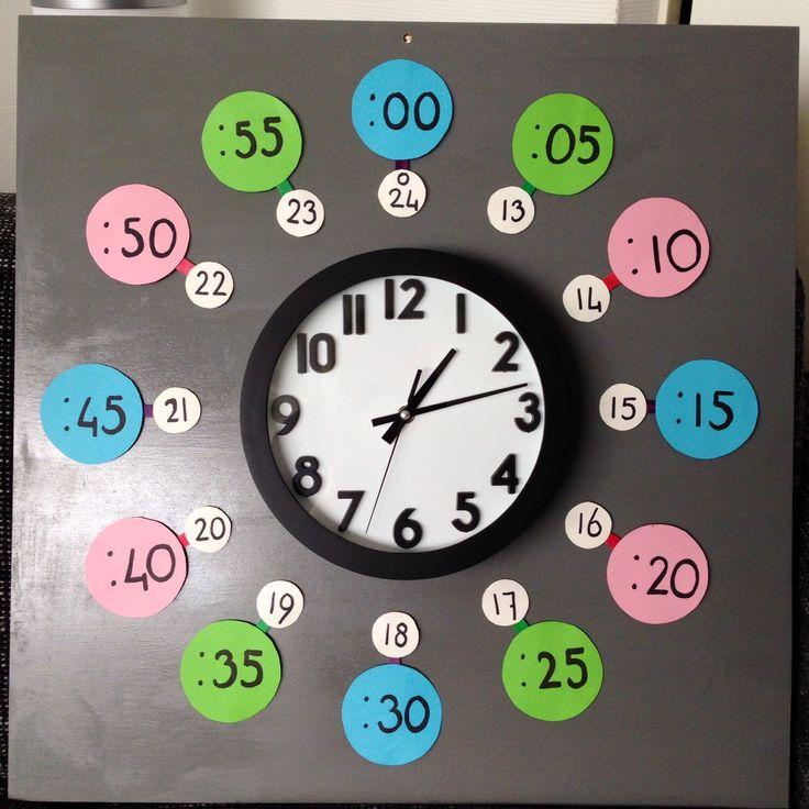 Klok gemaakt voor kinderen die nog niet goed (digitaal) klok kunnen kijken