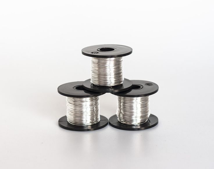 2433_Light silver soft wire 20 gauge, Jewelry wire 0.8 mm, Wire spool, Copper wire, Soft craft wire, Silver plated wire, Silver wire_50 g. by PurrrMurrr on Etsy