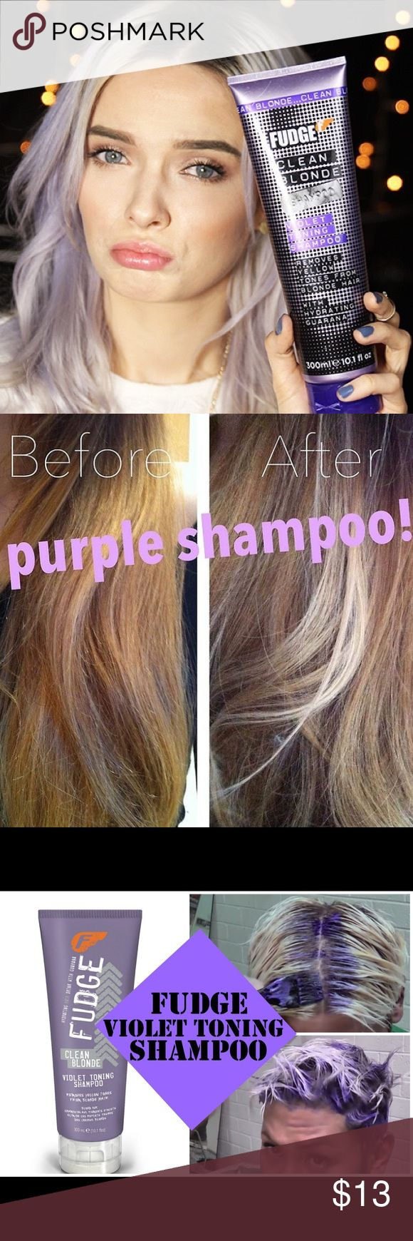 AUS Only Purple Blonde Toning Shampoo FUDGE 5 Star Blogger loved and always gets 5 stars, FUDGE violet toning shampoo for blondes. Imported from Australia. Brand new bottle. Tones away brass on ombré and platinum blondes. Best product out there, dye free. Check the reviews out online. MAC Cosmetics Makeup Brushes & Tools