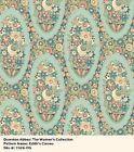 Fat quarter Patchwork Quilting Fabric Makower Downton Abbey Lady Edith 7328 O fq