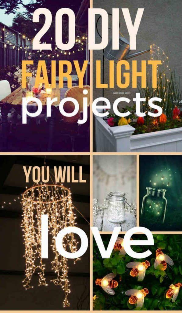 Diy Fairy Light Projects 20 Ideas For Your Garden Deck Or Balcony Light Project Fairy Lights Diy Diy Fairy
