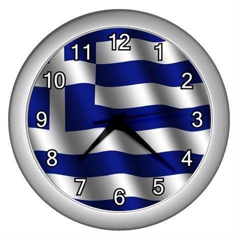 NEW WALL CLOCK GREECE GREEK FLAG