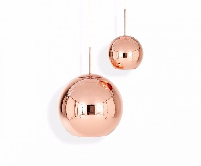 Tom Dixon's Copper Shade is instantly recognisable for its highly reflective surface with a warm metallic glow.
