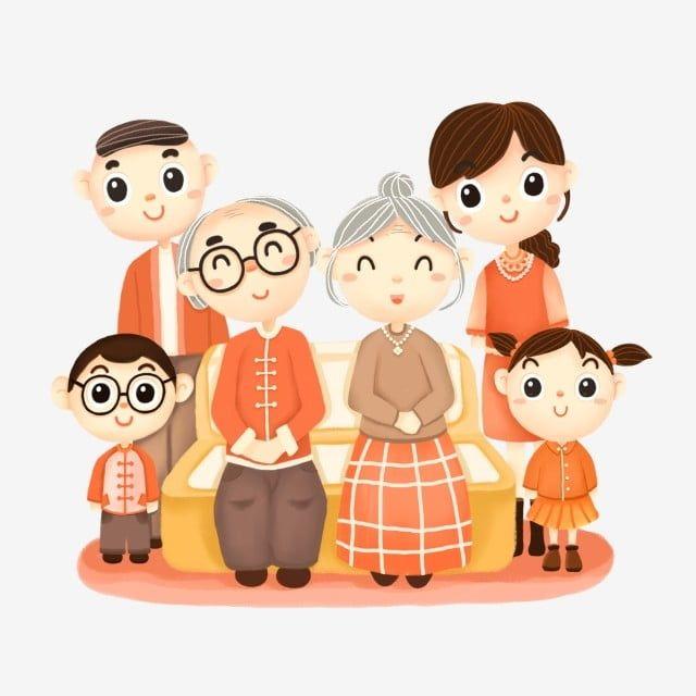 Family Portrait Elderly Elders Parents Children Cartoon Family Clipart Family Portrait Family Png Transparent Clipart Image And Psd File For Free Download Family Cartoon Family Portraits Family Illustration