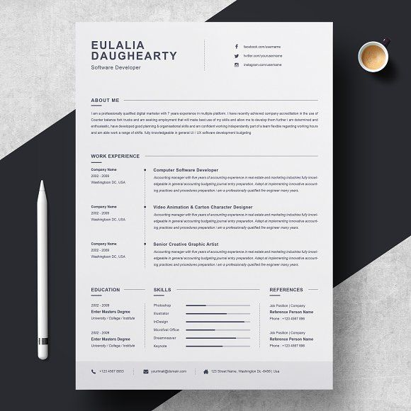 Clean Resume Template Clean Resume Template Resume Template Clean Resume